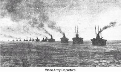 White Army Departure