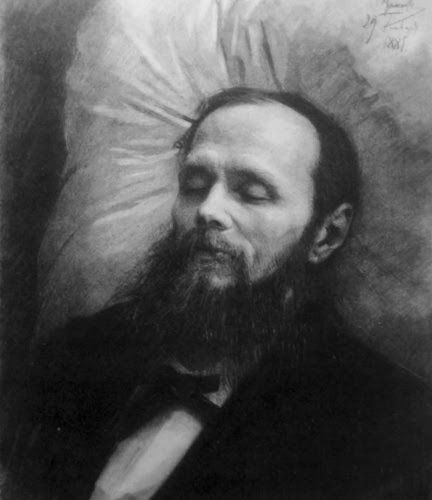 Dostoyevsky On His Bier Kramskoy