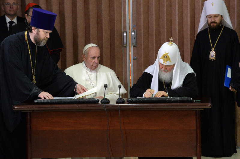 папа и патриарх4 подписывают
